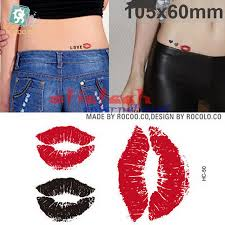 lip tattoo design online buy wholesale lip and kiss tattoo from china lip and kiss