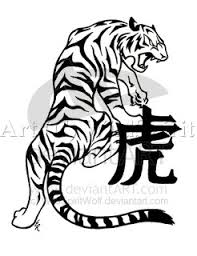 tatto artist tribal tiger design for