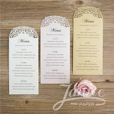 wedding menu cards laser cut menu card wcl0012 wpl0140 matching card wcl0012