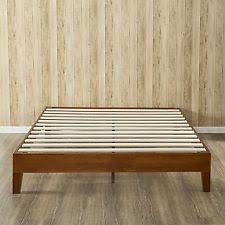 Steel Platform Bed Frame King Modern Ollie King Slatted Wood Steel Platform Bed Frame In Silver