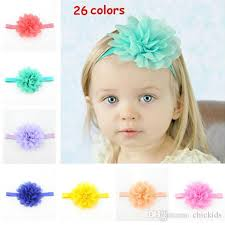 baby bands new baby fluorescence colour flower pretty hair band hair rope