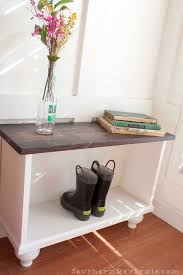 Small Entryway Table by A Storage Bench For Small Entryway Space Southern Revivals
