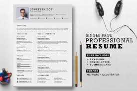 business card resume professional resume set resume templates creative market