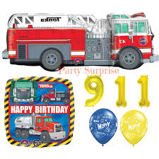 tonka fire rescue truck fire engine balloons fire truck birthday party balloons