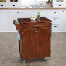 Kitchen 428 by Home Styles Kitchen Cart Black Stainless Steel Top Walmart Com