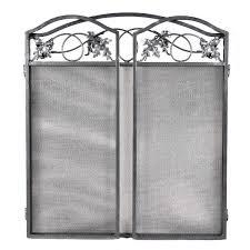 3 panel folding steel fireplace screen doors fireplace screens