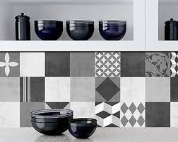 Tile Decals For Kitchen Backsplash Tile Decal Mid Century Modern Tile Stickers Kitchen