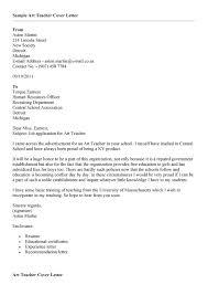 application letter for teacher job art teacher job cover letter