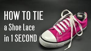 Shoo Fast how to tie a shoe lace in 1 second fast