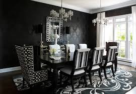 Damask Dining Chair Black And White Dining Chairs Upholstered Dining Room Contemporary