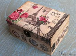 personalized box wooden jewelry box personalized box decoupage box shabby chic