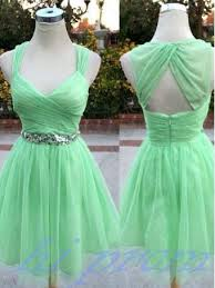 mint green homecoming dress tulle homecoming dresses with straps