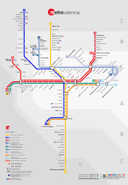 Metro Maps Valencia Metro Map Spain