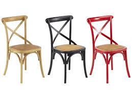 chaises color es lot de 2 chaises en bois d orme et assise en rotin disponible en 3