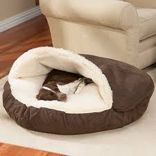 dog beds luxury microsuede cozy cave