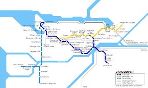 vancouver skytrain map urbanrail america canada columbia