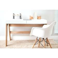 Off White Computer Desk Modern Office Desk With 2 Drawers Off White