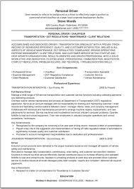 Car Driver Resume Limousine Driver Resume Example Augustais