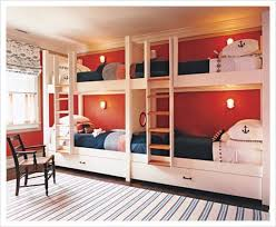 3 Person Bunk Bed Bedroom Nautical 4 Bunk Beds Ideas For Your Attractive Bedroom