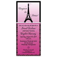 eiffel tower invitations eiffel tower sweet 16 invitations paperstyle