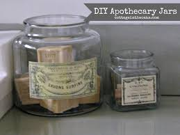 diy vintage apothecary jars apothecaries printable labels and craft