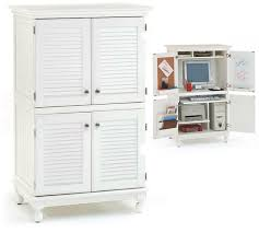 secretary desk computer armoire white finish louvered design puter armoire desk workstation