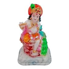 marble look hindu god shri krishan car dashboard statue lord
