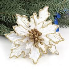 discount gold poinsettia ornaments 2018 gold poinsettia