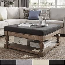 living room best coffee table breathtaking leather tufted ottoman