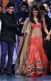 Engagement Lengha Priyanka Orish Lengha Celebrity Lengha