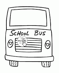 bus front side coloring page for toddlers transportation