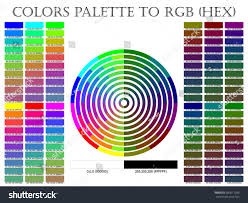 Palette Pantone Color Palette Composition Shade Chart Conform Stock Vector