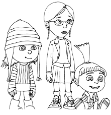 kids 7 despicable coloring pages