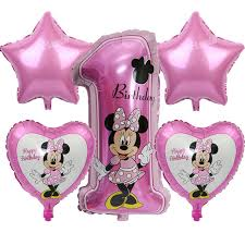 minnie mouse party supplies mickey minnie number ballon baby shower 1st birthday party foil