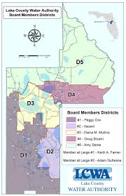 Perry Florida Map by Board Members Lake County Water Authority