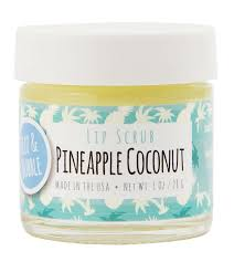 Lip Scrub pineapple coconut lip scrub fizz