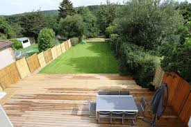 Rear Garden Ideas Garden Rear Decking Area Lawn Lentine Marine 47360