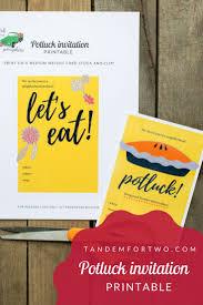 invitation for potluck free printable invitation design