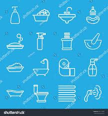 bath icons set set 16 bath stock vector 591177383 shutterstock