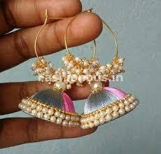 jhumkas earrings silk thread jhumkas earrings fashionous