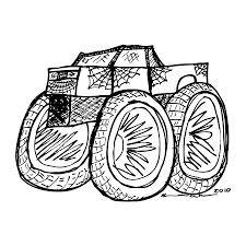 monster truck drawing by karl addison