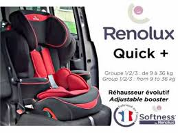 notice siege auto renolux installation du rehausseur groupe 1 2 3 renolux