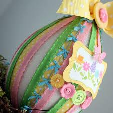 paper mache egg paper mache easter egg may arts wholesale ribbon company