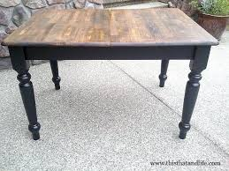 how to refinish a wood table farmhouse table picmia