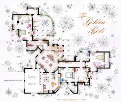 Hand Rendered Floor Plan Charming Golden Girls Floor Plan 17 On Modern House With Golden
