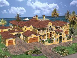 Luxury Estate Home Plans Luxury Spanish Estate 32071aa Architectural Designs House Plans