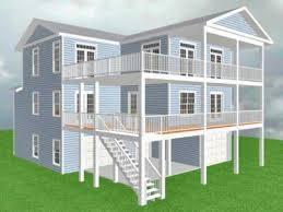 Raised Beach House Plans House Beach House Plans With Elevator