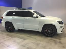 matte wrapped cars matte wrap satin white pearl jeep grand cherokee srt
