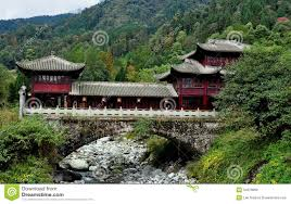 sichuan province china mountainside chinese house royalty free