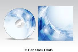 vector cd cover design template with copy space vector vector